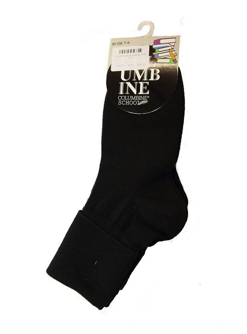 e966ec584 Black Ankle Socks 3 Pair Pack by Columbine - Bethells Uniforms