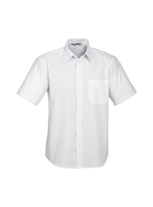 Short Sleeve White Dress Shirt